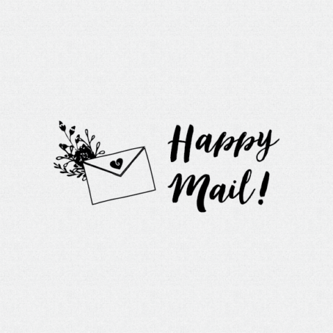 Happy Mail Packaging Stamp – Style T372