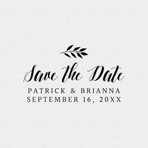 Save the Date Wedding Favor Stamps – Style #T187