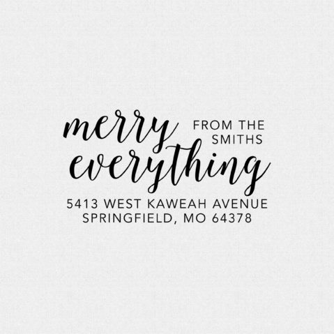 Merry Everything Return Address Stamp  – Style T279