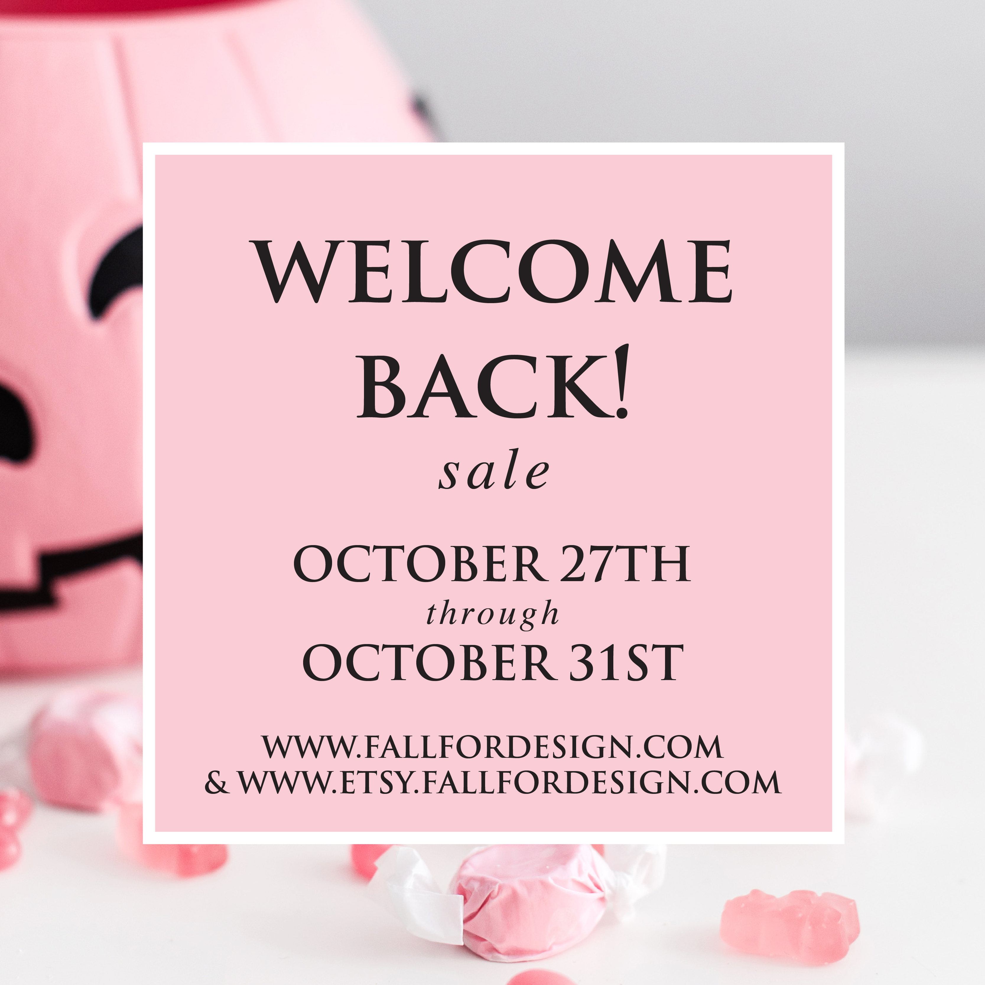 Welcome Back Sale!