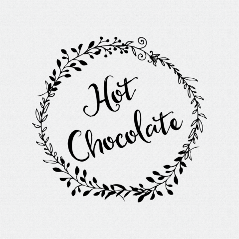 Hot Chocolate non-Custom Rubber Stamp Laurel Wreath – Style #W50