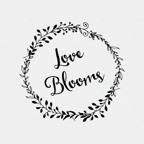Love Blooms non-Custom Rubber Stamp Laurel Wreath – Style #W53