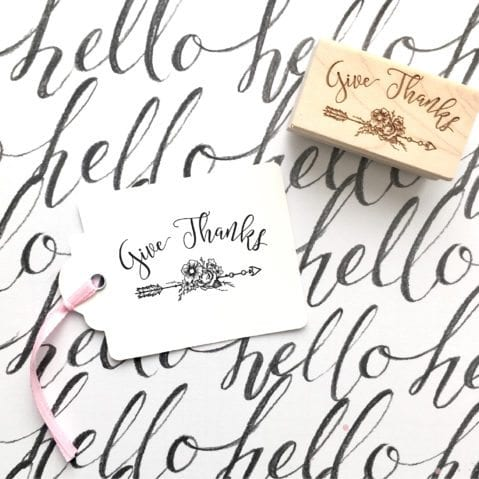 Give Thanks Rubber Stamp – Style #W36