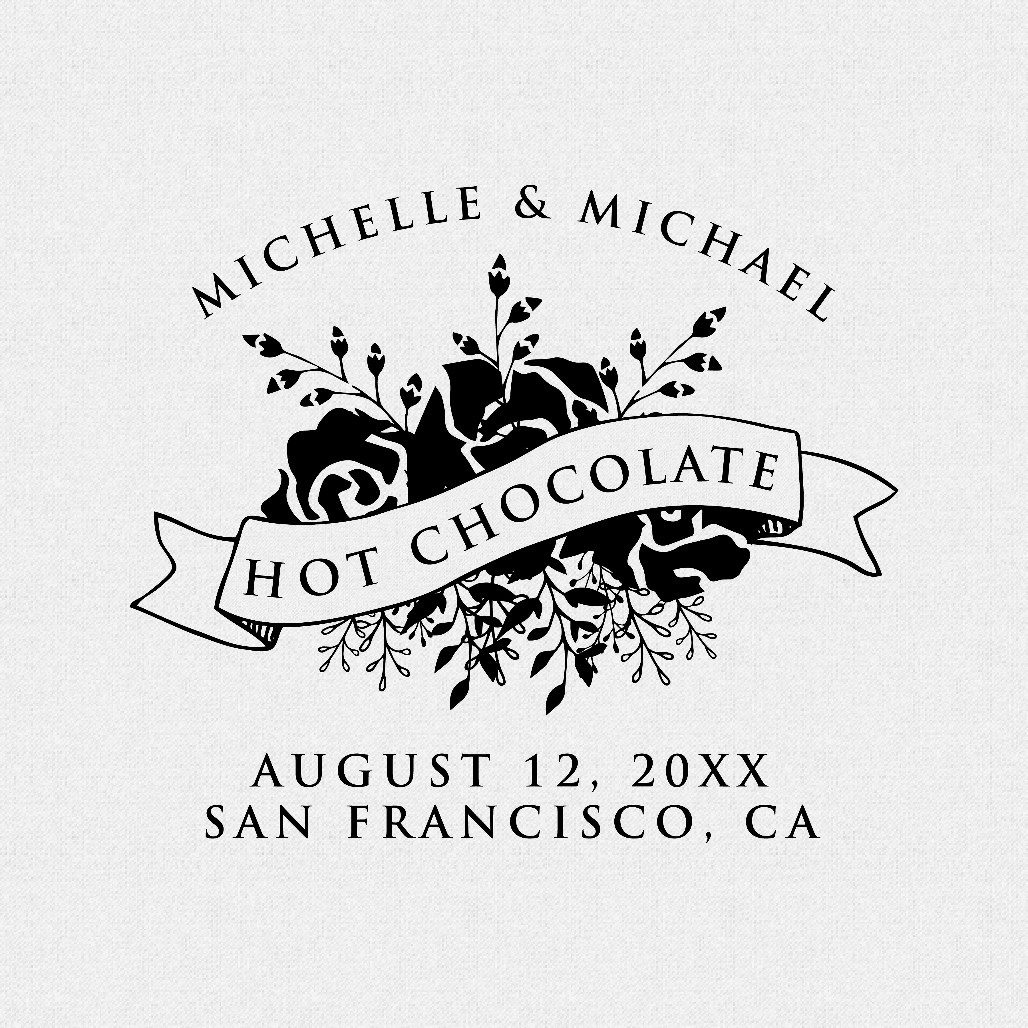 Hot Chocolate Wedding Favor Stamp